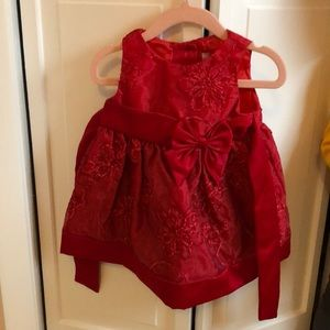 Rare Editions Red Dress Size 6-9 Months